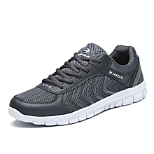 36a879fad Mens Breathable Running Shoes Lightweight Fashion Sneakers Lace Up Walking  Sports Shoes Grey