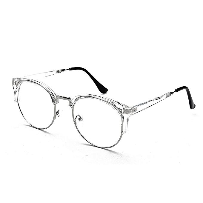 c56c0e3da24e Women Men Retro Style Round Nerd Glasses Clear Lens Eyewear Metal Frame  Glasses