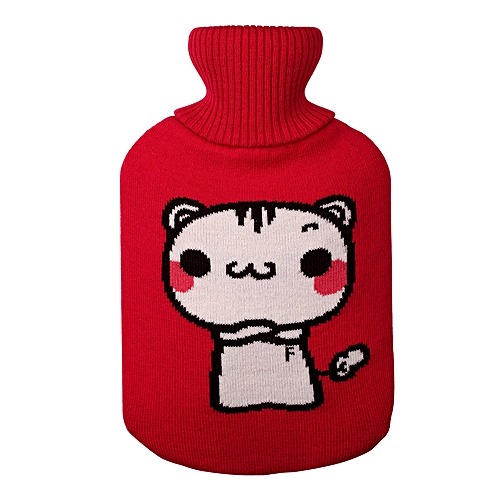 Large 2 Liter Soft Knitting Cute Hot Water Bottle Knit Cover ONLY Cover