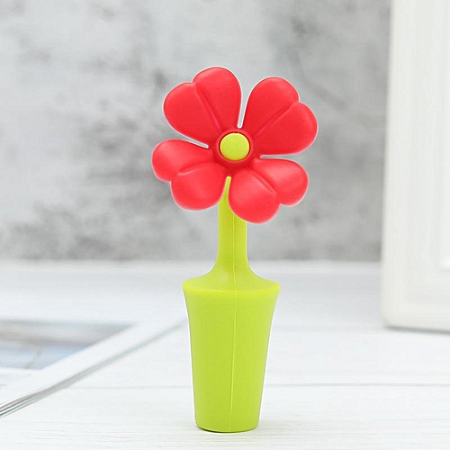 1 PC Wine Bottle Stopper Silicone Flowers Bar Tools Preservation Wine Stoppers Wine Champagne Stopper Beverage Closures