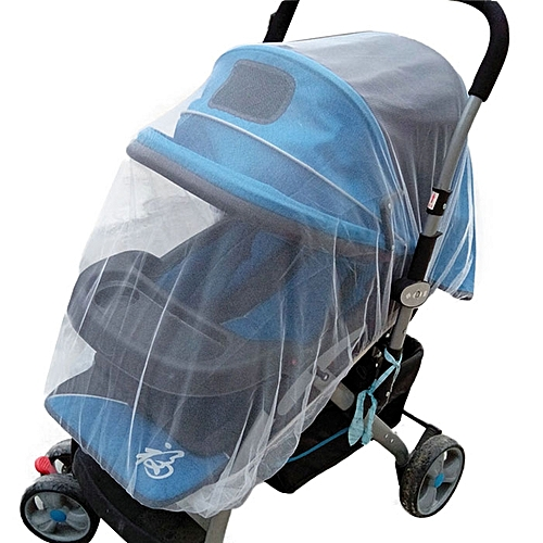 Summer Safe Baby Carriage Insect Full Cover Mosquito Net Baby Stroller Bed Netti-White