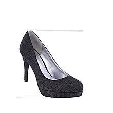 ed30ad81a37 Women  039 s Glitter Platform Office Pump - Black ...