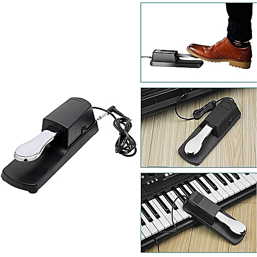 Universal Piano Keyboard Sustain Damper Pedal For Casio Yamaha Piano Parts USA
