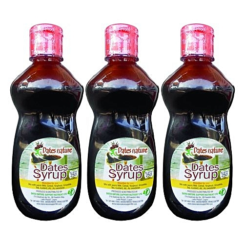 Date Syrup 25cl Healthy Alternative To Sugar, 3 Date Syrups