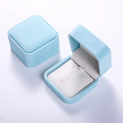 Squre Wedding Velvet Earrings Ring Box Jewelry Display Case Gift Boxes Amazing Water Blue