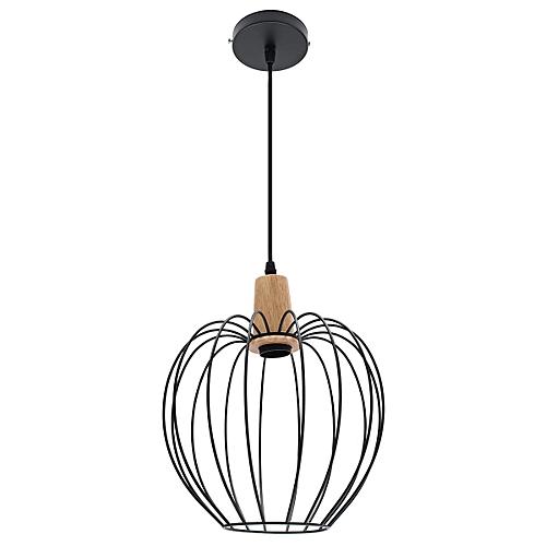 Modern Ceiling Lights Bar LED Lamp Wood Pendant Light Black Chandelier Light