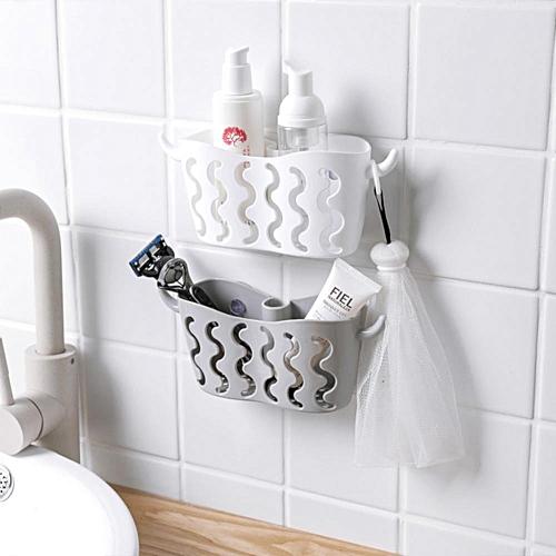 Plastic Storage Drain Holder Rack For Sponge Cleaning Brush Spoon