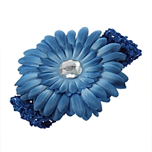 db8d4ac5e60 DM Baby Girl Crystal Daisy Peony Flower Hair Clip + Crochet Headband  Hairwear-11