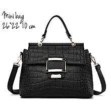 f4807e9c85e Croc Cross Body Mini Bag Shoulder Ladies Handbag - Black