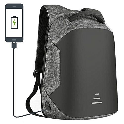2018 Amazing New Smart Backpack, Anti Theft Bag Security Travel Backpack &  Laptop Bag Water Repellent With USB Charging Port - 2018 Design - Grey