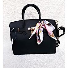 Jelly Matte Fashion Handbag Black