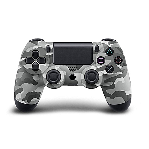 Bluetooth Wireless PS4 Controller For PS4 Vibration Joystick Gamepad PS4 Game Controller Color:Gray Camouflage