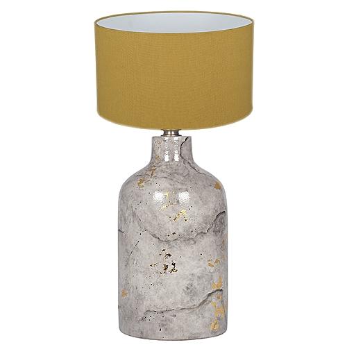 Marble Effect Gold Leaf Glaze Stoneware Table Lamp