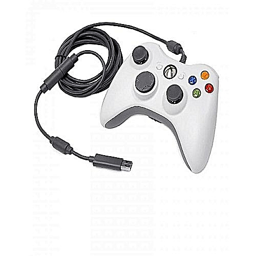 Microsoft Wired Dualshock Xbox 360 Game Pad- White