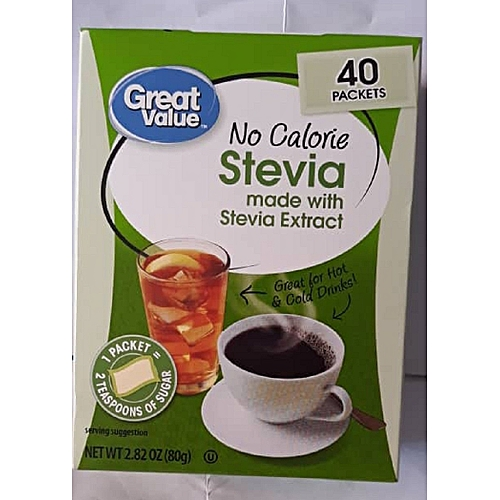 Stevia Sweetener, No Calorie - 40 Count