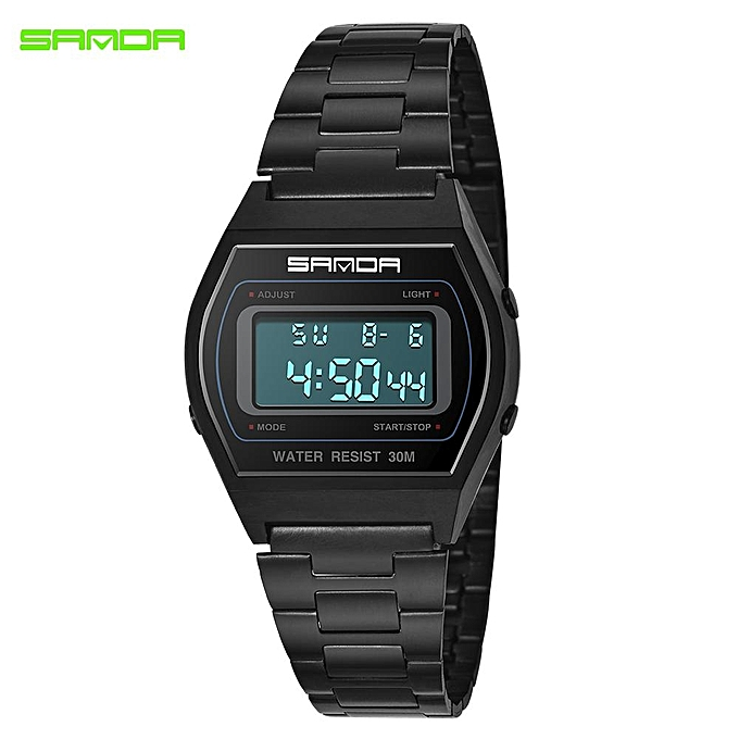 f5510cac57a SANDA Fashion Sport Watches Men Waterproof LED Digital Watches Black Gold  Silver Wristwatches Clock Men Relogio