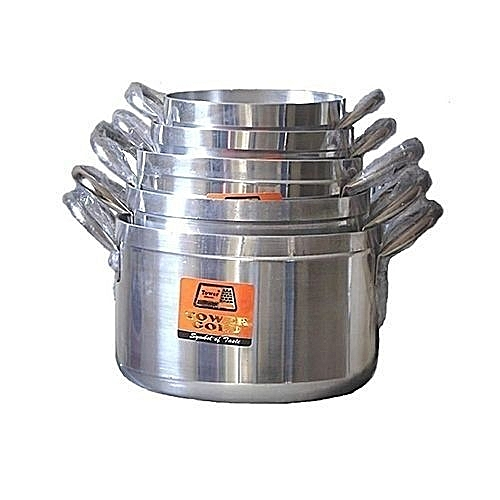 Cooking Pot Set - 5 Pieces - Silver