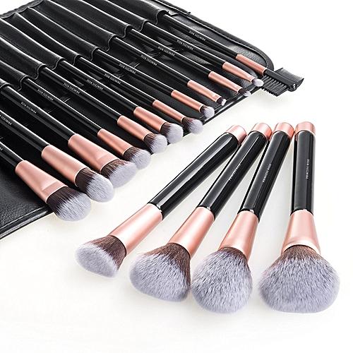 Bloem Makeup Brush Set, 16pcs Premium Cosmetic Brushes For Foundation Blending Blush Concealer Eye Shadow, Cruelty-Free Synthetic Fiber Bristles, ...