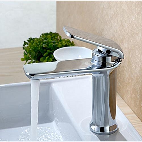 Simple Hot & Cold Single Handle Water Faucet Bathroom Basin Sink Mixer Tap Deck Mount 4 Colors