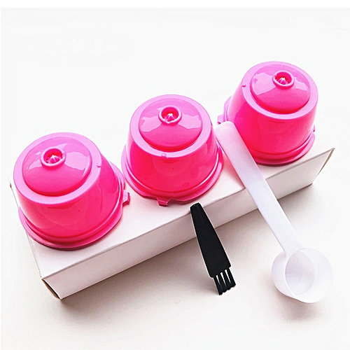 3Pcs/Set Reusable Coffee Capsules Filter Dolce Gusto