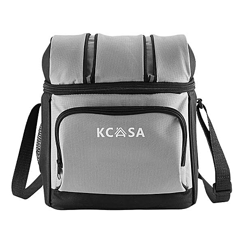 0a1ea22f3850 KCASA 12 Can Insulated Cooler Ice Bag Picnic Hiking Food Container Hard  Liner