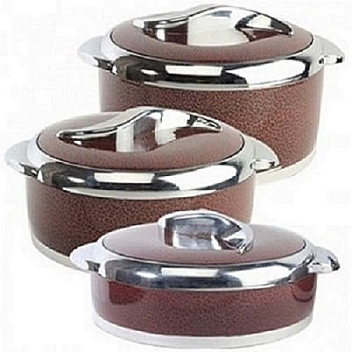 Food Warmer Casserole Set - 3 Pcs Multicolur