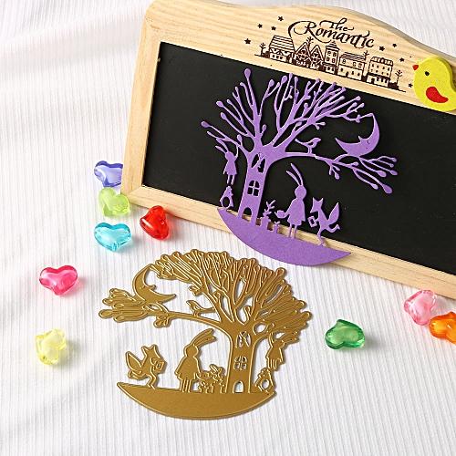 Merry Christmas Metal Cutting Dies Stencils Scrapbooking Embossing DIY Crafts Gold