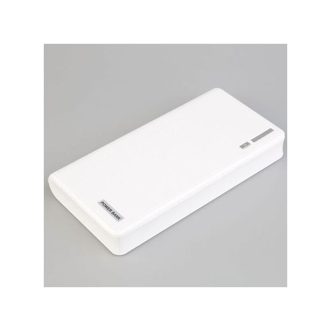 40000mAh External Power Bank LED Dual USB Battery Charger For Cellphone - White,