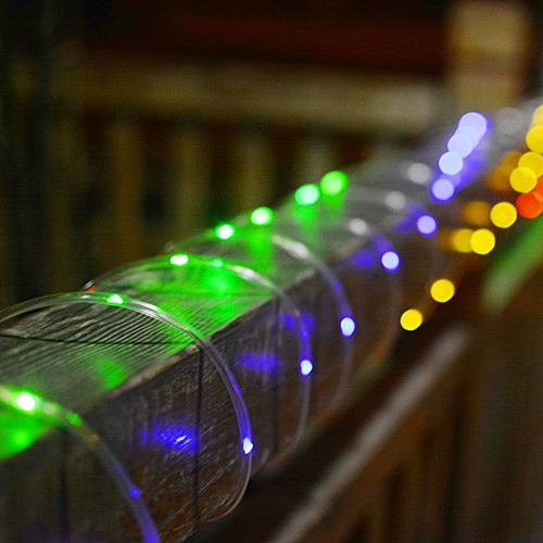 Solar Powered 120LEDs 8Modes Waterproof Fairy Copper Wire Rope String Light For Christmas-