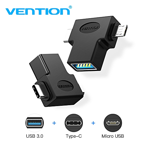 Type C Micro USB Adapter USB 3.0 OTG Adapter 2 In 1