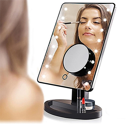 LED Makeup Mirror With 10X Magnification Spot Mirror