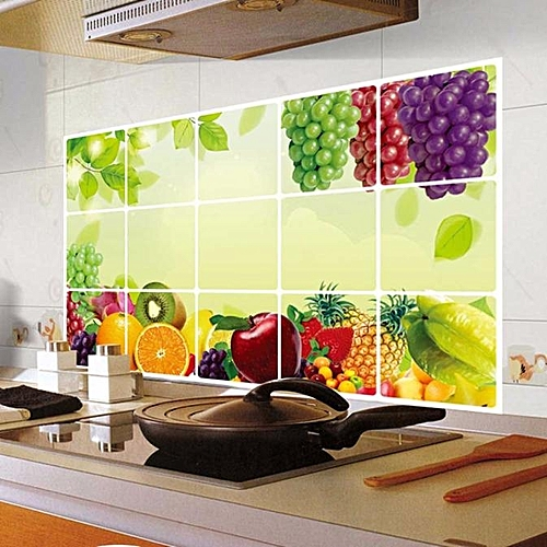 Kitchen Oilproof Removable Wall Stickers Art Decor Home Decal