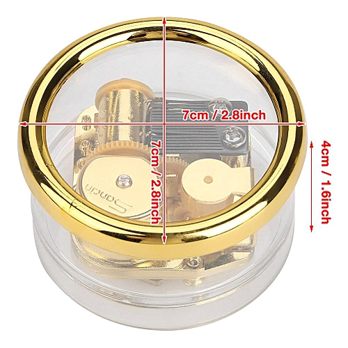 Acrylic Round Transparent Wind-up Clockwork Mechanical Music Box Kids Musical Toy Gift Spirited Away Great Gift