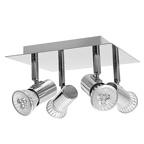 Modern 4 Way Adjustable LED Ceiling Spotlight Fittings Kitchen Lights GU10 Bulbs