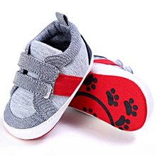 Baby Shoes Boy Girl Newborn Crib Soft Sole Shoe Sneakers GY/1-Gray