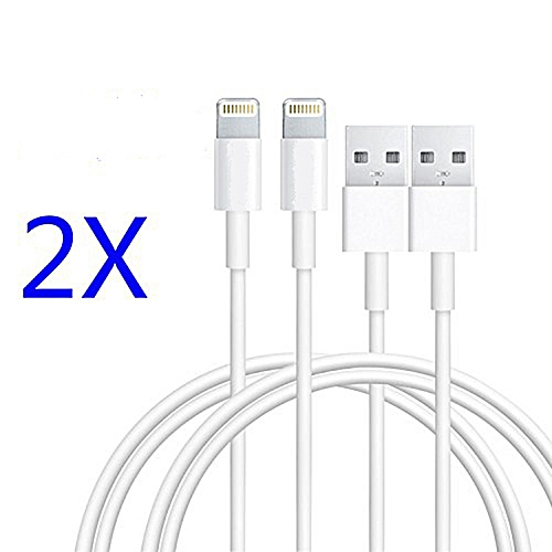 2 X IPhone Lightning Cable,I5 Cable IPhone Cable Lightning To Usb Cable IPhone Charger For IPhone 7/7 Plus 6/6s/6 Plus/6s Plus,Se/5s,iPads Air/Minis (3Foot/1meter 2-Pack)