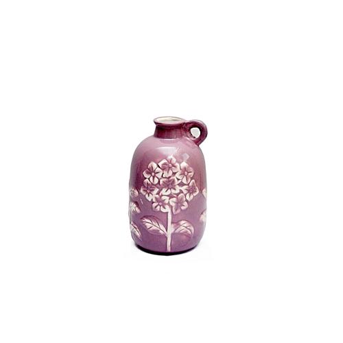 Purple Vase With Handle