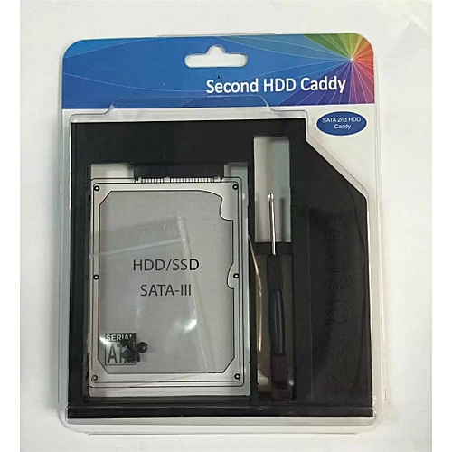 9mm SATA Second HDD SSD Hard Drive Caddy For Laptop CD / DVD-ROM Optical Bay