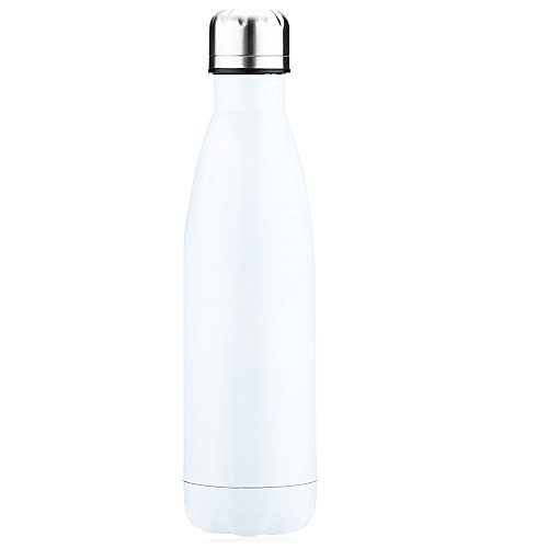 500ML Cola Style Stainless Steel Water Bottle - White