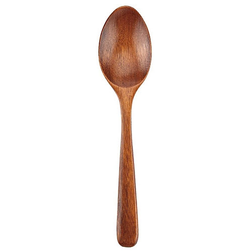 17cm Handmade Wooden Spoon Kitchen Cooking Utensil Tool Coffee Soup Dessert