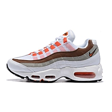 Nike Wmns Air Max 95 Essential White Black Yellow 807443 061 Women's Running Shoes Fashion Trainers