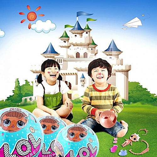 3pc Plastic Surprise Doll Funny Egg Ball Kids Children Curiosity Satisfy Toy Gift