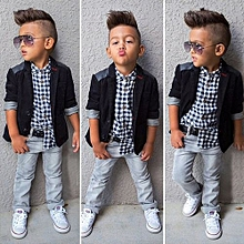 5f93f43cf392 Oys Gentleman Suits Coat Pants 3pcs Children Clothing Set Long Sleeve  Spring Autumn Kids Boys Clothes
