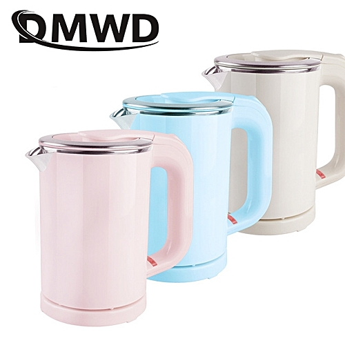 DMWD Dual Voltage Travel Water Heating Kettle MINI Electric Kettle Cup Heater Portable Stainless Steel Tea Pot Boiler 110V-220V