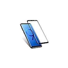 S9 Plus 5D Tempered Glass Screen Protector - Black (Thick, Double Layer, Sensitive, Stratch, Stain Resistance)