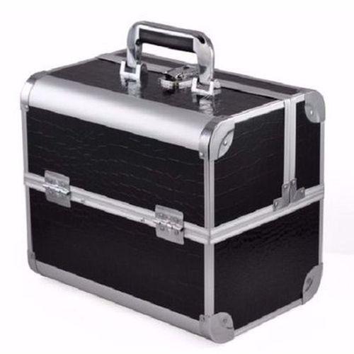 Professional Makeup Box - Black & Silver..