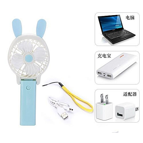 Mini Portable Handheld Mute Rechargeable USB Foldable Fan