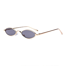 16fea01dfd Women Men Small Oval Sunglasses Fashionable Unisex Metal Frame UV Glasses