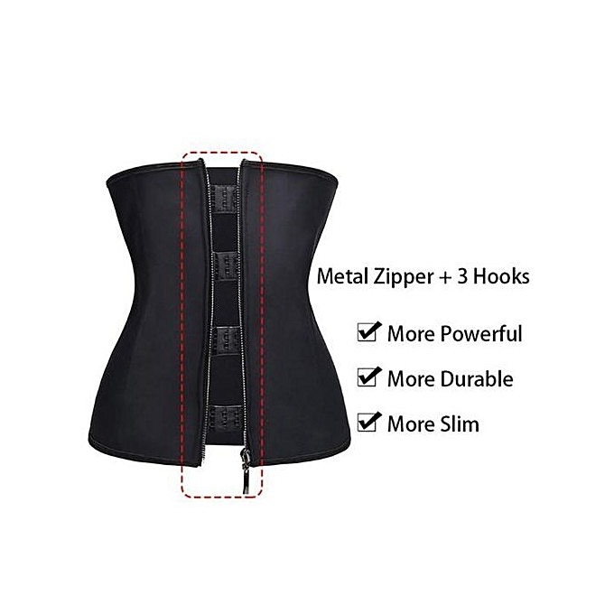56502ad2bdfce Fashion Waist Trainer With 3 Hooks And Zip