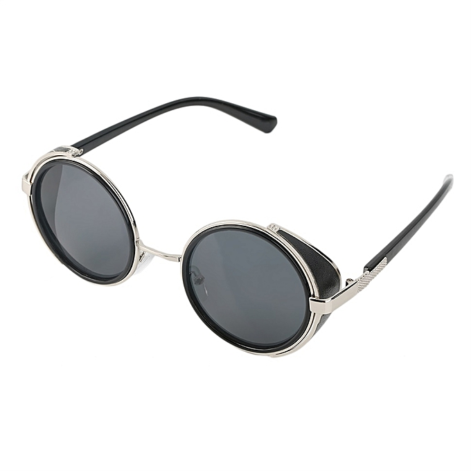 3c02be6d29c Steampunk Sunglasses Round Glasses Cyber Goggles Vintage Retro Style  Blinder (Intl)